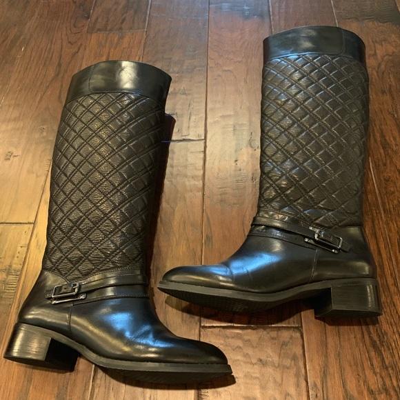 Alex Marie Shoes - Alex Marie Black Leather Riding Boots